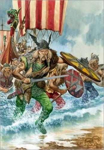 Póster 21 x 30 cm: Vikings de Peter Jackson/Bridgeman Images - impresión artística, Nuevo póster artístico