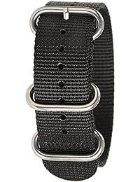 Bertucci B-183, DX3, 22mm negro Nylon malla reloj banda