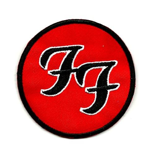 The foo fighters ff logo american rock band full round | ricamo alta qualità iron on sew on patch ricamato distintivi per abiti giacche, cappotti cappelli borse borse