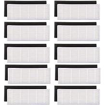REFURBISHHOUSE 20pzs / Lote Filtro HEPA y filtros de Esponja Repuestos para ilife A4s A6 A4