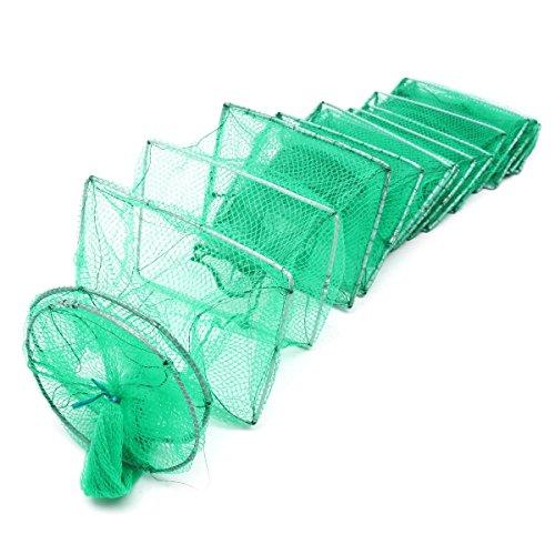 3.2M Long Tube Nylon Mesh Crab Crayfish Lobster Shrimp Prawn EEL Live Trap Net Bait Fishing Pot (Color : -, Size : -) -