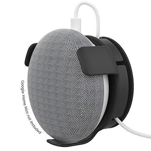 AhaStyle ABS Wandhalterungsständer für Google Home Mini Voice Assistants, Integriertes Kabelmanagement (schwarz)