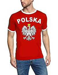 EM 2016 POLSKA Adler T-SHIRT mit Deinem NAMEN + NUMMER ! POLEN Fußball Trikot Ringer weiß S M L XL XXL