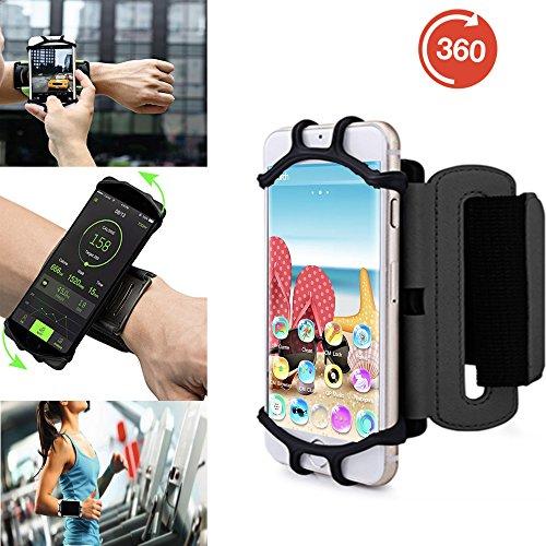 Outdoor Handy Schutzhülle | für SHIFT 5.1 | Multifunktional Sport armband | zum Laufen, Joggen, Radfahren | SPO-3 Schwarz
