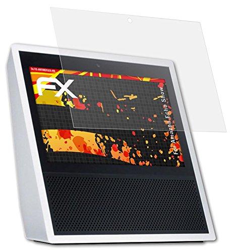Amazn Echó Show Displayschutzfolie - 2 x atFoliX FX-Antireflex-HD hochauflösende entspiegelnde Schutzfolie Folie