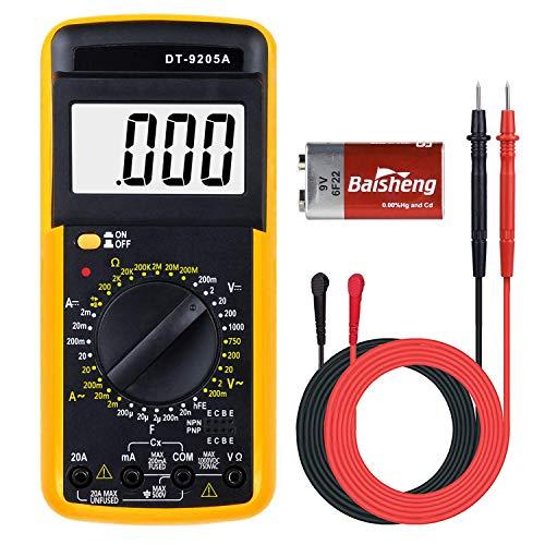 Digital Multimeter,AC/DC Multi Tester Spannung Tester Digital Multimeter Messgerät Voltmeter Amperemeter Ohmmeter,Transistoren,Strom,Widerstand,für Schule Labor Factory usw