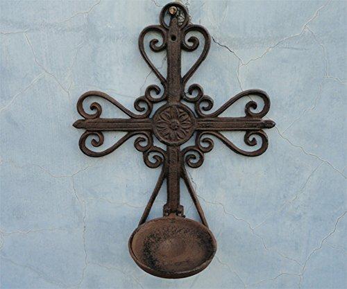 Retro croce portacandele montato parete vuota/Candeliere in