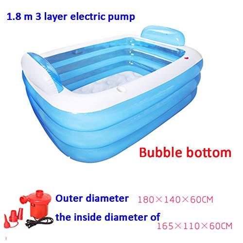 DENG&JQ Aufblasbare Badewanne,verdicken Sie Haushalt Badewanne Erwachsenen Falten Badewann