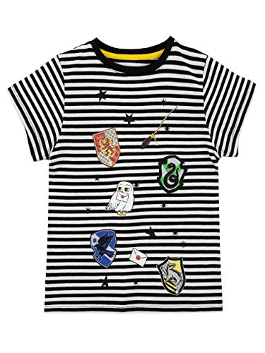 HARRY POTTER Mädchen Hauswappens von Hogwarts T-Shirt Mehrfarbig 128 (Filme Hexerei Top)