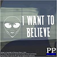 I Want To Believe Funny Alien-Adesivo in