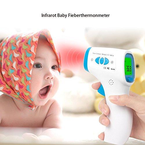Termómetro Infrarrojo Digital Pistola de Bebé Niños Adultos sin Contacto para Temperatura...