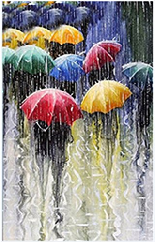 TianMai Hot New DIY 5D Diamond Painting Kit Crystals Diamond Embroidery Rhinestone Painting Pasted Paint By Number Kits Stitch Craft Kit Home Decor Wall Sticker - Rain Umbrella, 30x40cm