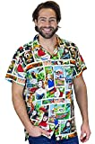 King Kameha Funky Hawaiihemd, Kurzarm, Comic, Multicolor, S