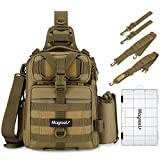 Magreel Fishing Tackle Bag Waterproof Shoulder Backpack Cross Body Sling Bag with Rod