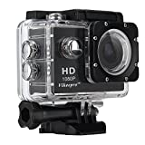 Action Cam Wasserdicht 1.5 Zoll Vikeepro Full HD 1080p 30fps Action Kamera Mit 170 Grad...