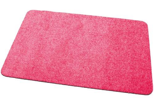 Fußmatte / Dekomatte / Schmutzfangmatte, rechteckig, 30 x 50 cm, pink, Höhe 8 mm, waschbar, rutschfest, Sauberlaufmatte ,Teppich, Läufer,...