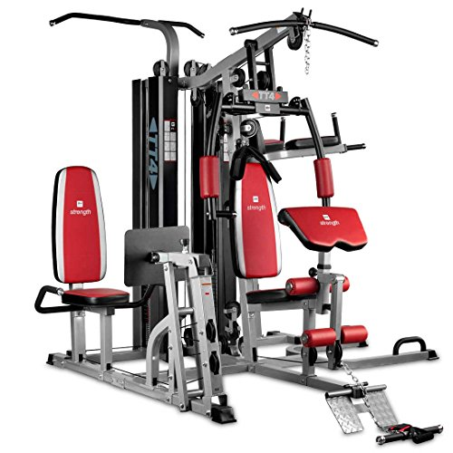 BH Fitness TT-4 G159 Stazione multifunzione - 4 postazioni - Carico pesi tipo professional - 70 Kg per parte superiore - 98 kg per parte inferiore