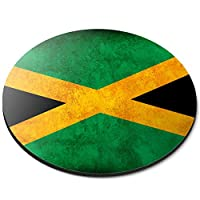 Round Mouse Mat - Rustic Jamaica Flag Office Gift - RM14366