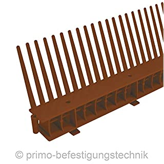 1 Meter Traufkamm Traufenlüftungselement | Abmessung: 55mm | Farbe: Dunkelbraun | nach DIN 4108 514103