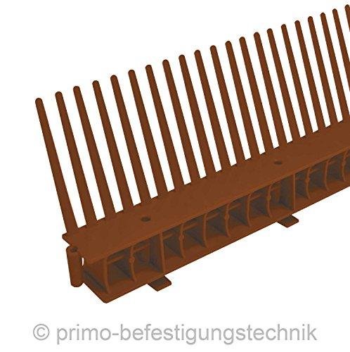 30 Meter Traufkamm Traufenlüftungselement | Abmessung: 55mm | Farbe: Dunkelbraun | nach DIN 4108 514103