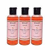Khadi Mauri Orange Face Wash Pack of 3 H...
