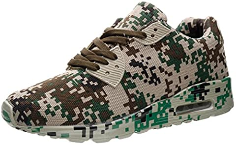 JOOMRA Men's baskets Sports de plein air Camouflage Chaussures mfucc de jogging Entrainement en gymnastique pour Homme Armée vert, marron, noir, gris Max size 46