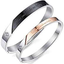 Aituo pulsera de parejas unisex, joyas para hombre única, pulsera elegante