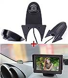 Caméra de Recul Arrière Vue de Voiture avec Vision Nocturne Système d'inversion Étanche + 4.3'LCD Moniteur de Voiture pour Citroen Berlingo Jumper Jumpy Nemo Dacia Dokker Van Nissan Navara