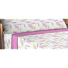 ForenTex - Juego de sabanas de 3 piezas, (JX-4033), cama 150 cm, máxima transpiración y frescura, estampadas, baratas, de microfibras, set de cama. 1-4 sábanas microfibra paga solo un envío, descuento equivalente al finalizar la compra.