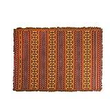 JinK Su Europäischer Stil Multifunktions mit dekorativen Quasten Gobelin , Sofa-Abdeckung , Decke, Tischdecke, Anti-Rutsch- Decke (Mischfarbe-1, 180 x 220 cm)