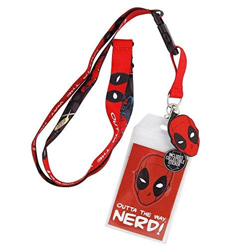 Preisvergleich Produktbild Deadpool Nerd- Lanyard Mit Charme Und ID- Sleeve