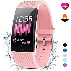 GOKOO Tracker d'Activité Cardiofréquencemètre Bracelet Sport Moniteur De Sommeil Bracelet Connecté Étanche IP67 Montre Connectée Calorie Podomètre Multifonctionnel Smartwatch pour Homme Femme
