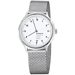 Mondaine Unisex-Armbanduhr Helvetica No1 Regular 40mm Analog Quarz MH1.R2210.SM