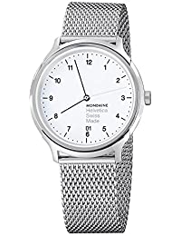 Mondaine Helvetica No1 Regular 40mm MH1.R2210.SM Reloj de pulsera Cuarzo Unisex correa