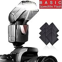 Flash Speedlite SAMTIAN pour Canon Nikon Panasonic Olympus Pentax et Autres appareils Photo Reflex Flash Speedlite pour appareils Photo numériques avec Griffe Standard