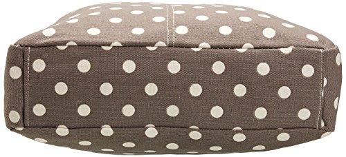 Kukubird Vari Animali Ancoraggio E Ombrello Crossbody Design Top-manico A Tracolla Del Totalizzatore Small Polka Dots Grey