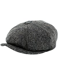 Failsworth Cappelli Carloway 8-Piece Bakerboy Harris Tweed Cappello in  Blu Grigio Mix 941ecff39c34