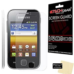 **PACK OF 2** - SAMSUNG GALAXY Y S5360 CLEAR Screen Protector with cleaning cloth - TECHGEAR
