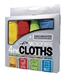 #7: Microfiber Extra Large Micro Fibre Cleaning Cloth (Set Of 4),Multicolor