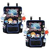 Auto Rückenlehnenschutz Utensilientaschen Organizer - Große Aufbewahrungstasche für Reisezubehör und Spielzeug mit 12,9