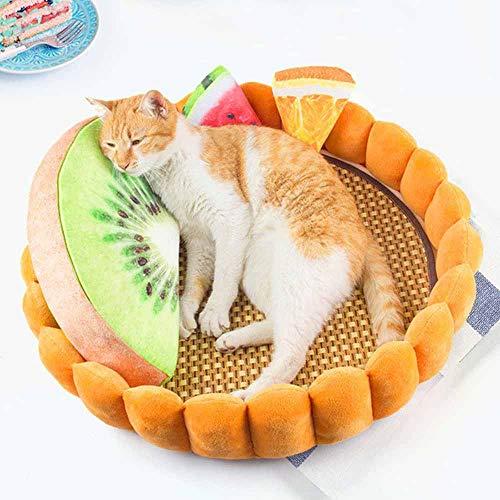 Auoker Haustierbett, bequem, selbstwärmend, rund, oval, Nisthöhle, Katzenkissen für Katzen und Kleines Sofa, Dekoration für Kleine Hunde und Katzen