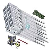 GAH-Alberts Einschlag-Bodenhülsen 12er-Set Einschlaghülse für Vierkantholz-Pfosten/Zaun 71 x 71 mm 750 mm