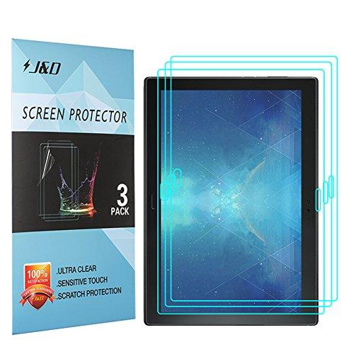 J und D Kompatibel für 3er Set Lenovo Tab 4 10 Plus Bildschirm Schutzfolie, [Nicht Ganze Deckung] Premium HD-Clear Schutzfolie für Lenovo Tab 4 10 Plus - [Nicht kompatibel mit Lenovo Tab 4 10]