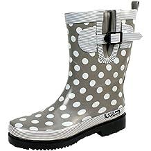 Bockstiegel Damen Gummistiefel Dorin Regenstiefel Punkte, Farbe:grau, Größe:41 EU