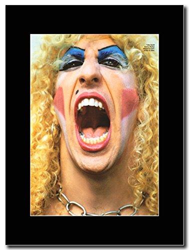 """""""Twisted Sister"""", motivo: Dee Snider, nel 1982 Magazine Promo su un supporto, colore: nero"""