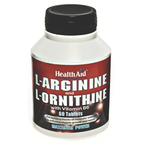 51cuLEjsbyL. SS500  - HealthAid L-Arginine with L-Ornithine 60 Tablets - CLF-HAD-802035