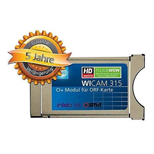 Wisi WICAM 315 CI+ Irdeto CAM Modul für die ORF Karte und HD Austria Programme HDTV CI plus Plug & Wow
