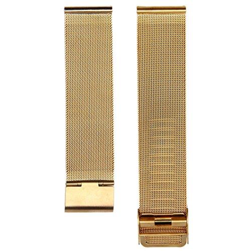 Ouneed® Mode milanaise- en acier inoxydable- 20mm -bracelet Band Strap (or)
