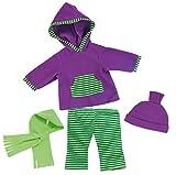 Bayer Design 83844 - Kleidung für Puppen - Kapuzenshirt, Hose, Schal und Mütze, circa 36 - 38 cm