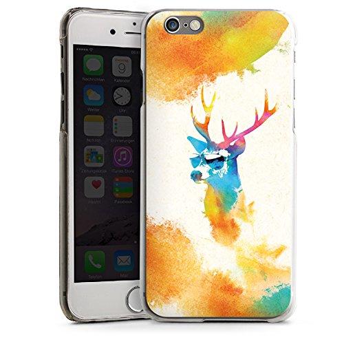 Apple iPhone 5s Housse Étui Protection Coque Hipster Cerf Lunettes de soleil CasDur transparent